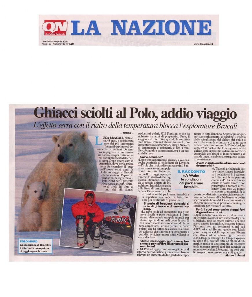 La Nazione 20 Aprile 2008 - Luca Bracali