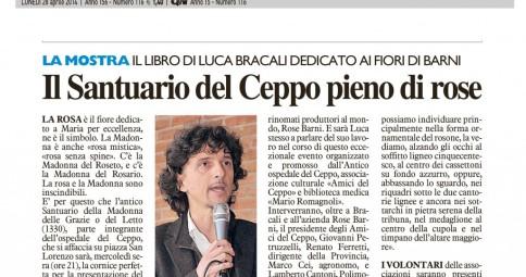La Nazione - 28 Aprile 2014 - Luca Bracali