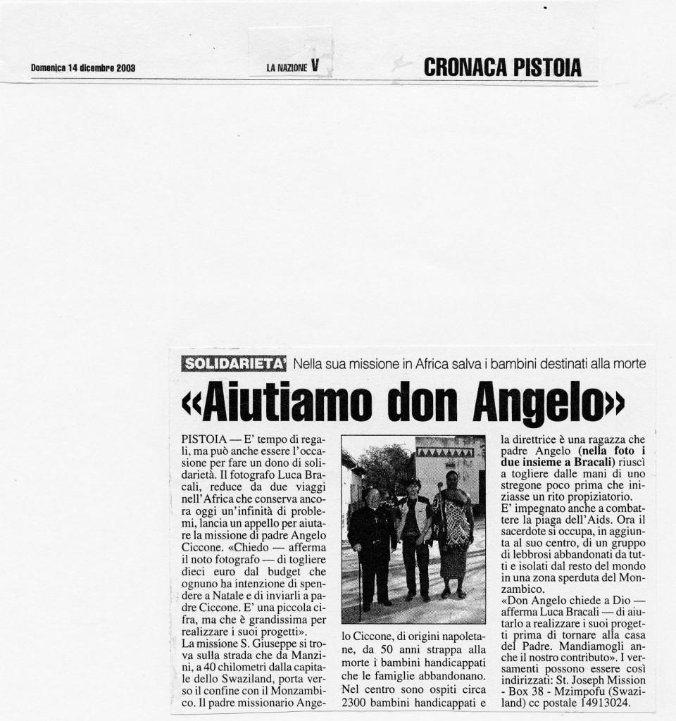 La Nazione 14 Dicembre 2003