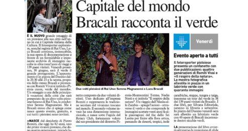La Nazione 28 Giugno 2017 - Luca Bracali