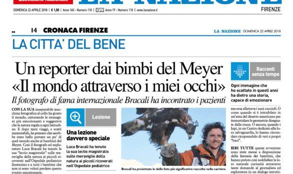 La Nazione - Luca Bracali fotografo, regista ed esploratore