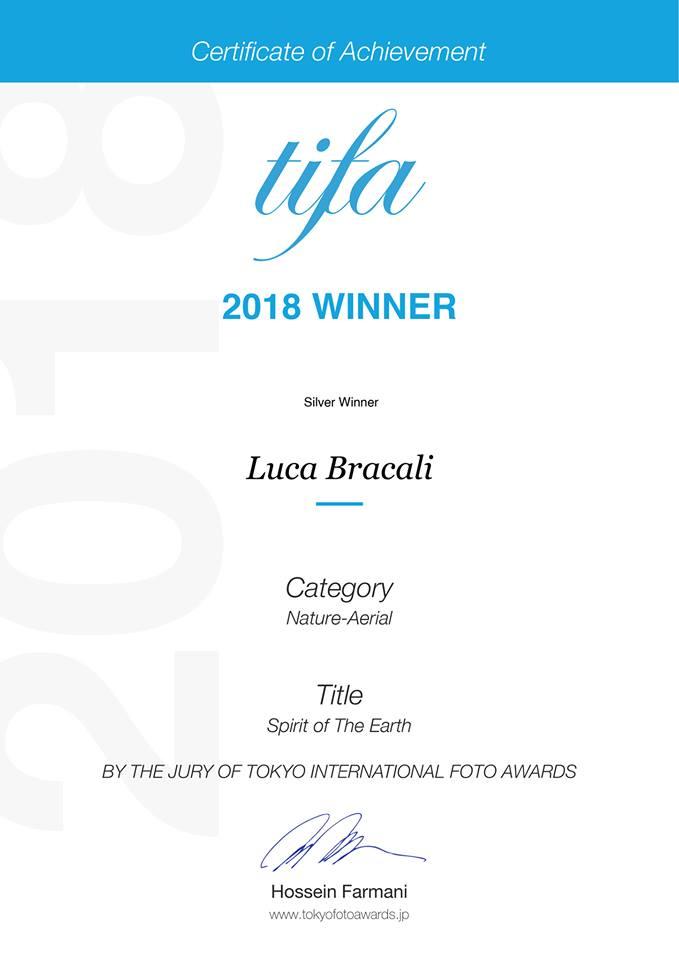 Luca Bracali vincitore al concorso fotografico internazionale TIFA 2018 - Tokio