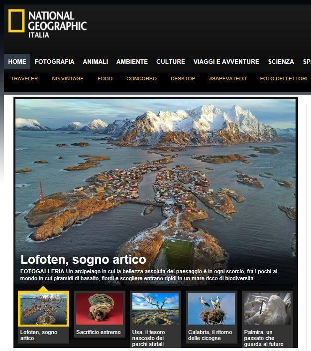 National Geographic Italia : Lofoten, un sogno artico di Luca bracali
