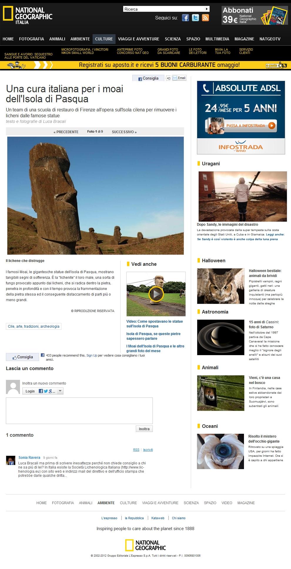Foto Una cura italiana per i moai dell'Isola di Pasqua – 1 di 9 – National Geographic
