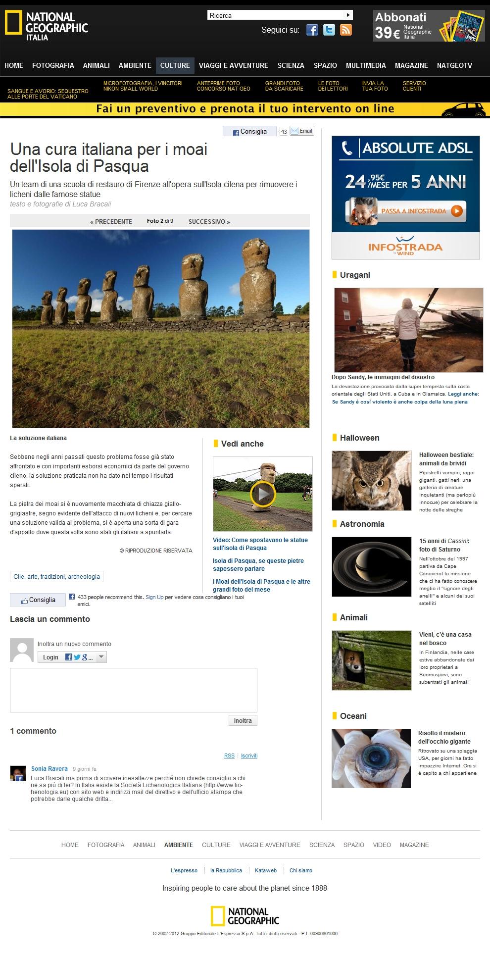 Foto Una cura italiana per i moai dell'Isola di Pasqua – 2 di 9 – National Geographic