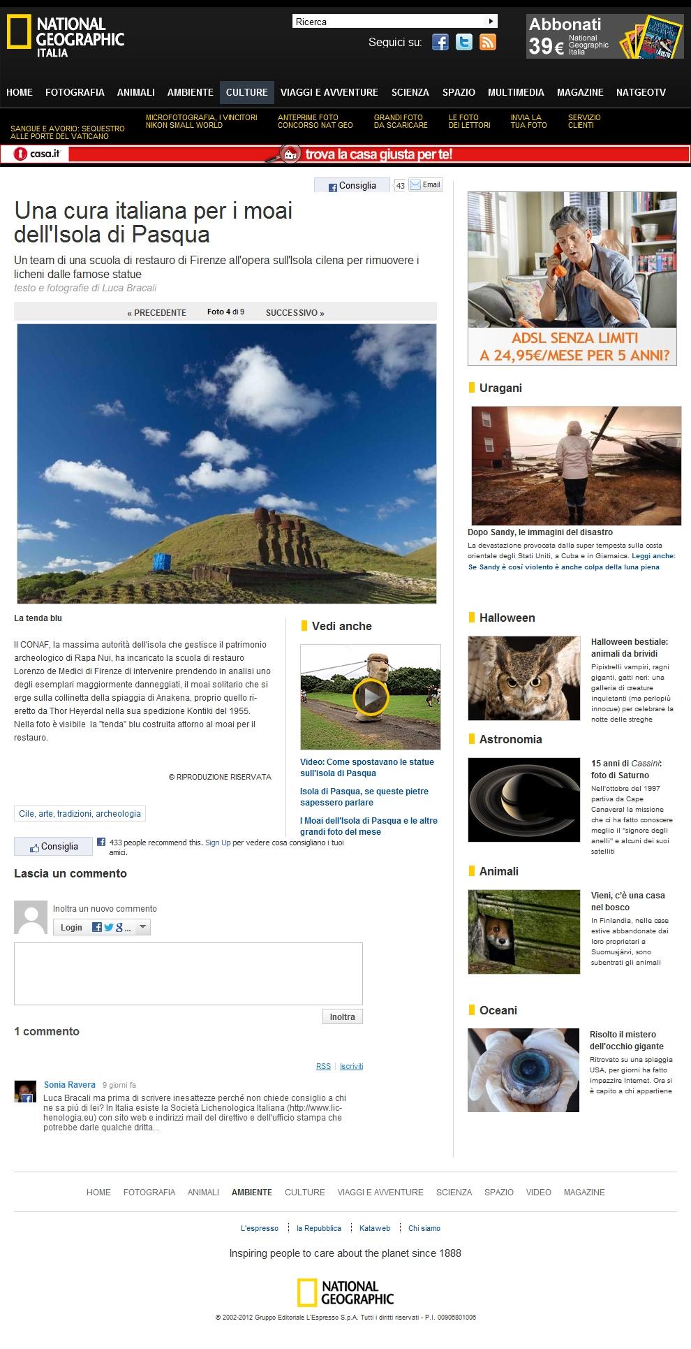 Foto Una cura italiana per i moai dell'Isola di Pasqua – 4 di 9 – National Geographic
