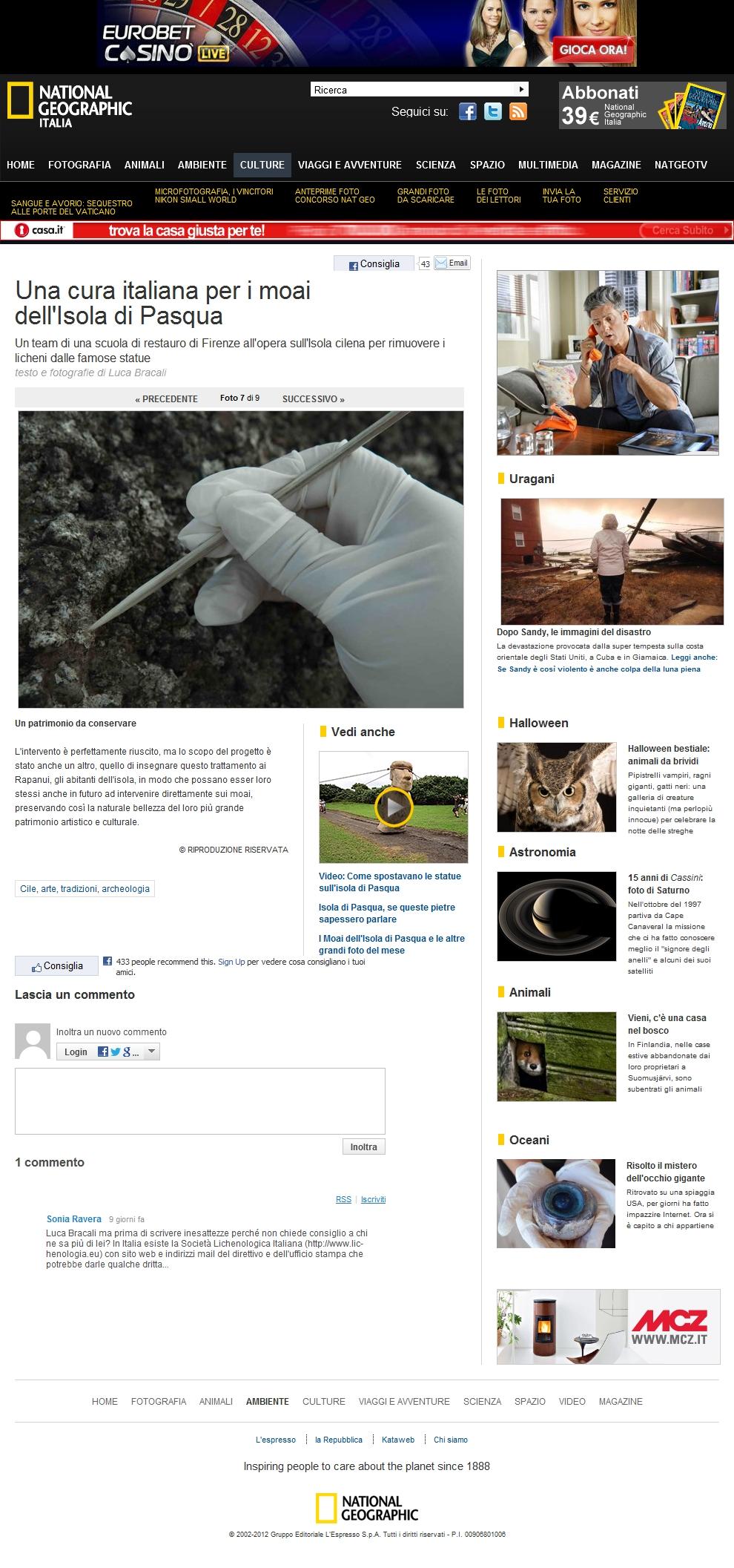 Foto Una cura italiana per i moai dell'Isola di Pasqua – 7 di 9 – National Geographic
