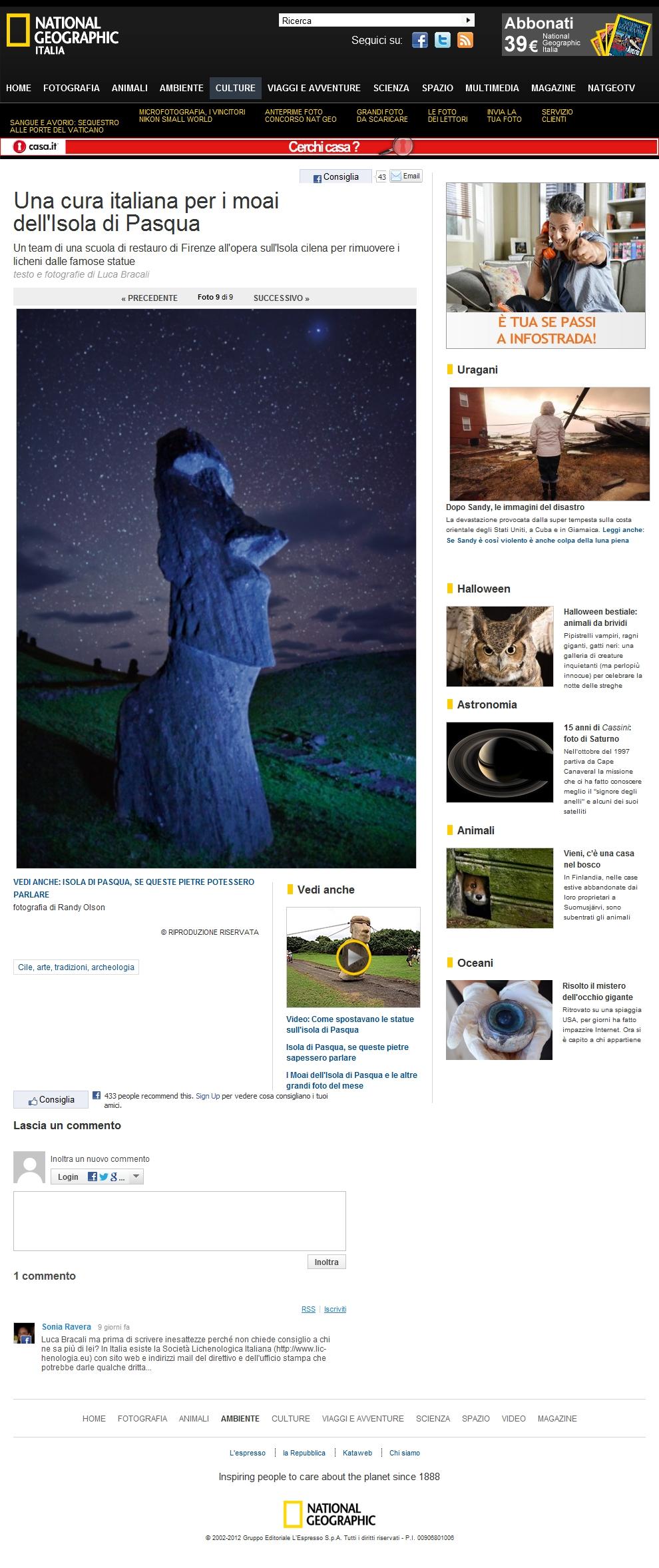 Foto Una cura italiana per i moai dell'Isola di Pasqua – 9 di 9 – National Geographic