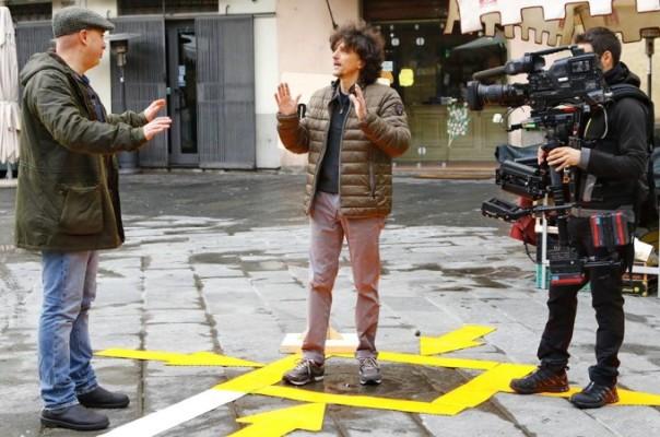 "Luca Bracali a Pistoia per Rai Cultura, trasmissione ""Provincia Capitale"" su Rai 3"