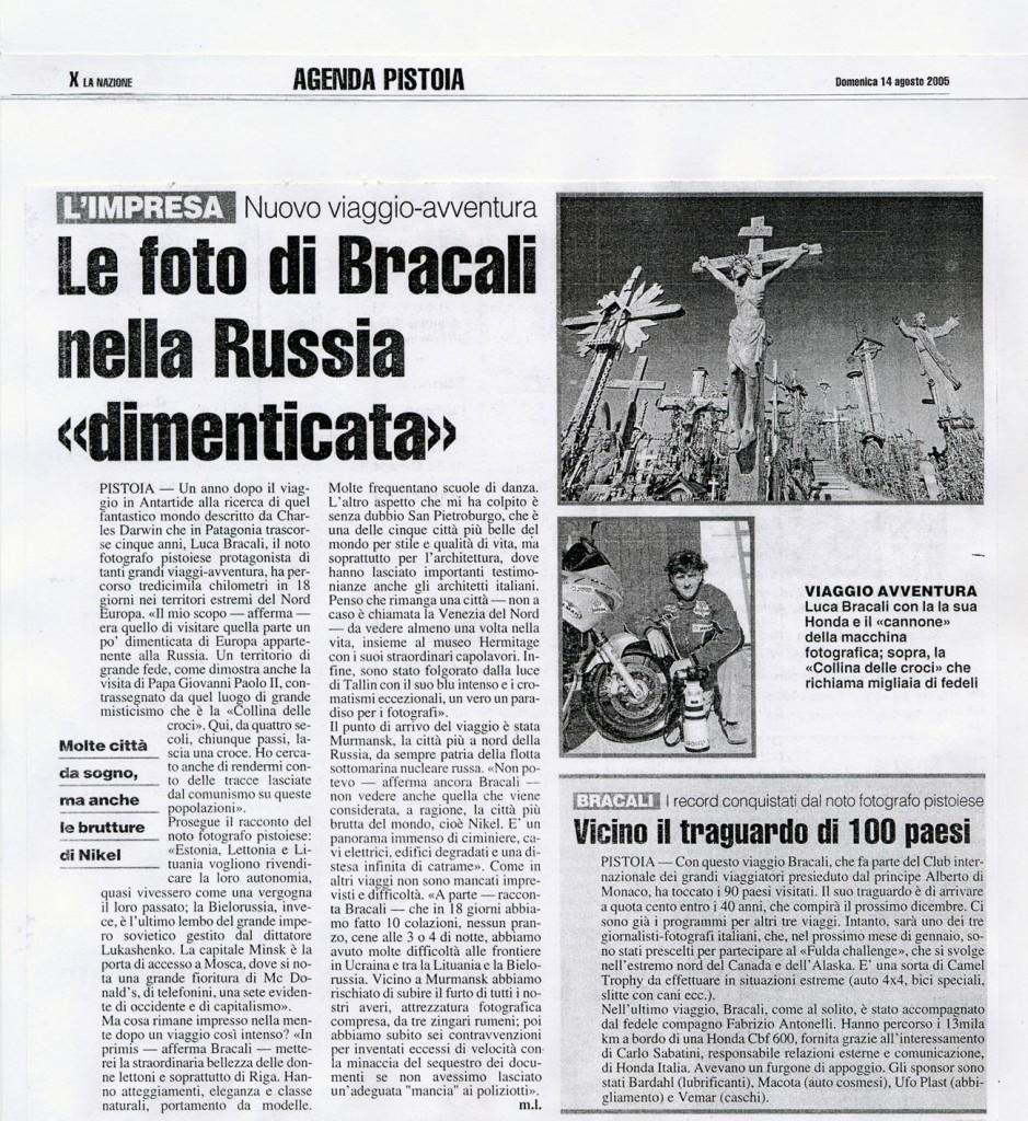 La Nazione 14 Agosto 2005