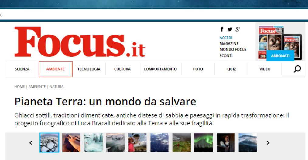 Pianeta Terra: un mondo da salvare, il libro di Luca Bracali sulla homepage di Focus.it