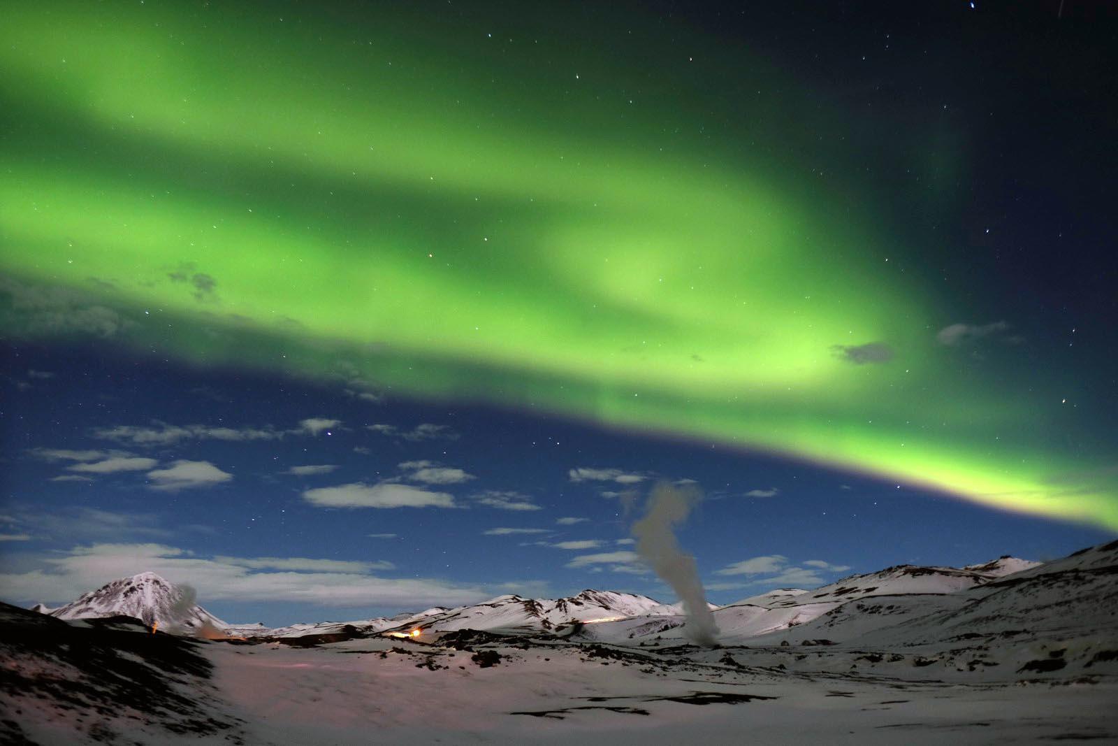 Islanda aurora boreale foto di Luca Bracali
