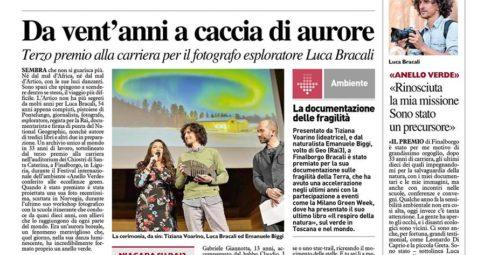 Luca Bracali su La Nazione