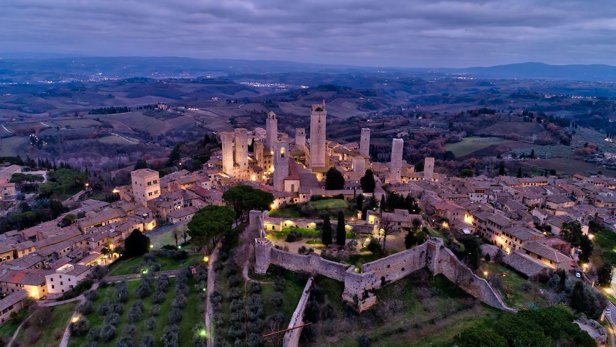 San Gimignano, Tuscany – Aerial View