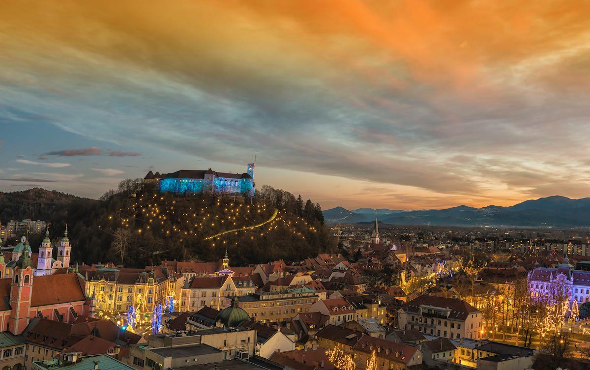 LJubljana with castle